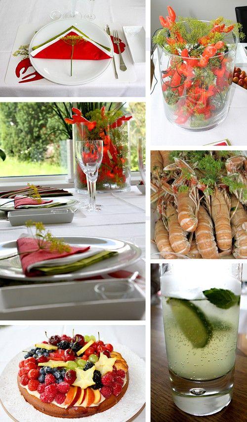 ... Kräftskiva on Pinterest | Traditional, Seafood party and Large plates