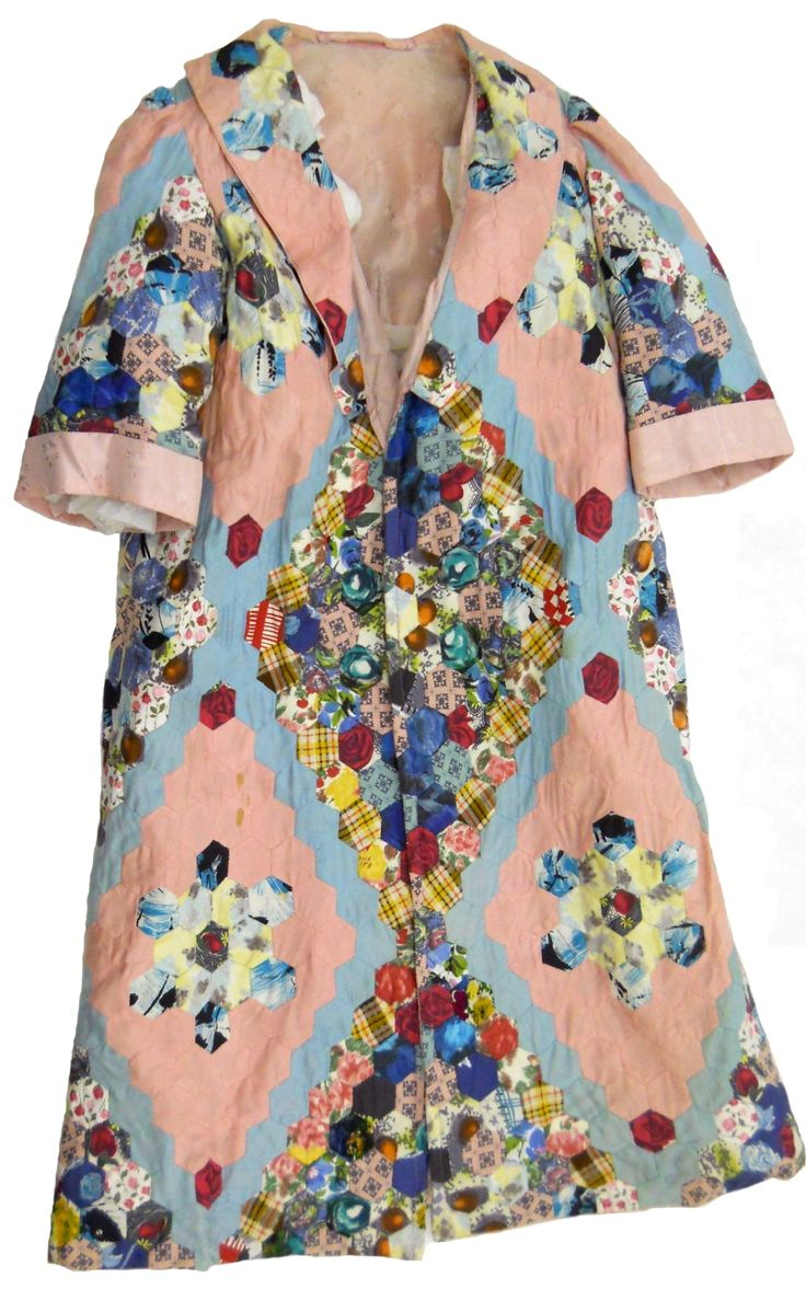 Pink and Blue Hexagon Housecoat