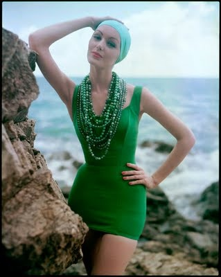 Vintage green swimsuit