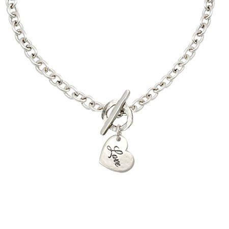 Gorgeous Danon Jewellery Short Silver Love Heart Charm Pendant Necklace £43 from www.lizzielane.com http://www.lizzielane.com/product/danon-jewellery-short-silver-love-heart-charm-necklace/