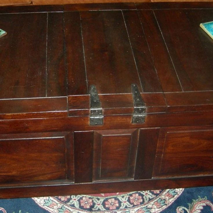 Crate And Barrel Coffee Table Trunk