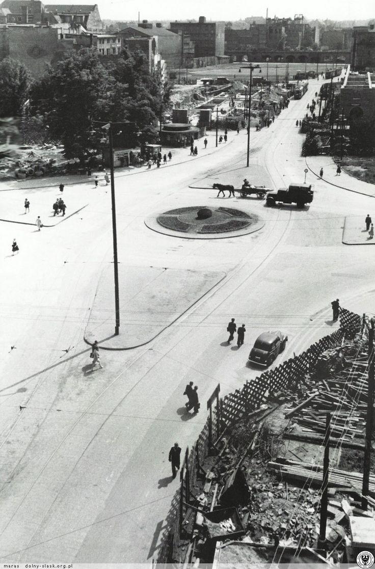 Plac Tadeusza Kościuszki, widok kierunku południowym. Fot. S. Arczyński. 07 czerwca 1955