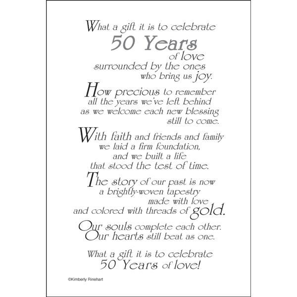 57 best 50th anniversary images on pinterest wedding anniversary imprinted napkins wedding with a bible verse verse133 50th anniversary poem for a stopboris Gallery