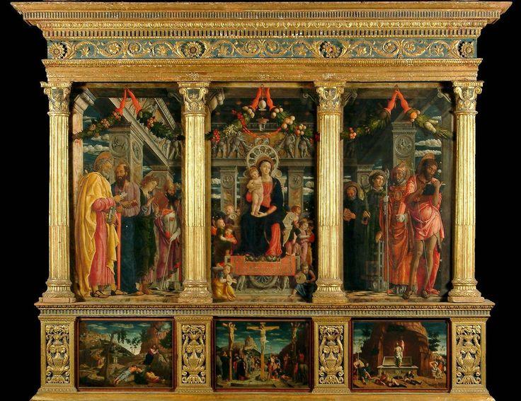 """Andrea Mantegna, """"Pala di San Zeno"""" (particolare), 1457-60, Verona, Chiesa di San Zeno."""