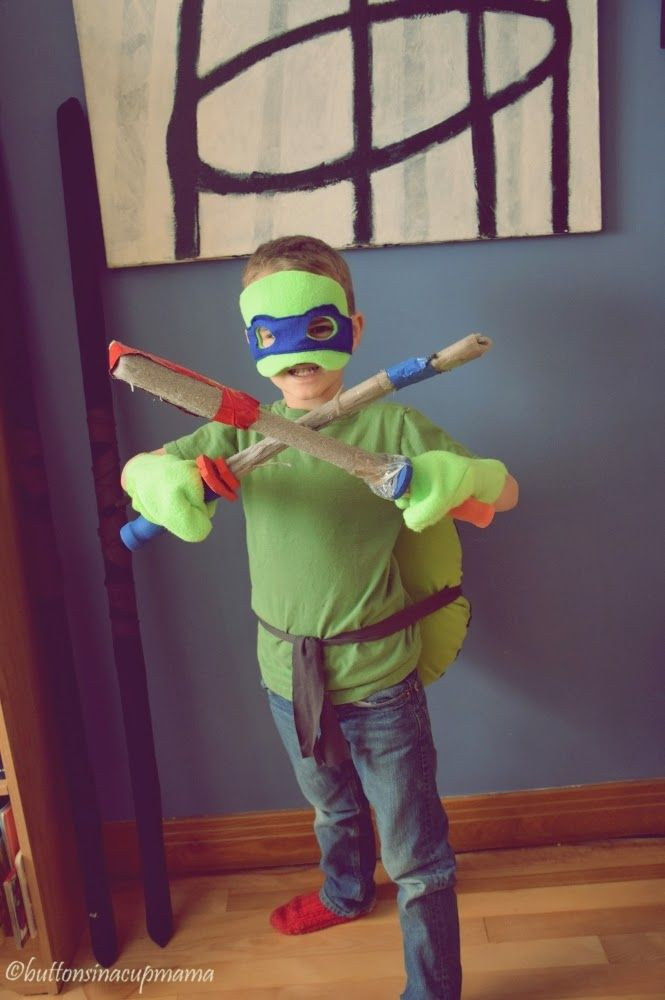 Buttons in a cup mama: Costume de tortue ninja