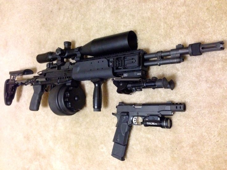 The Best Zombie Combo Ever M1ebr With A 50rd Drum And A