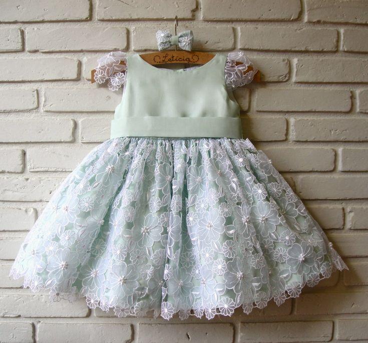 vestido infantil de tule com renda de flores - Pesquisa Google