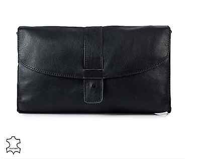 Pieces Line Leather Clutch