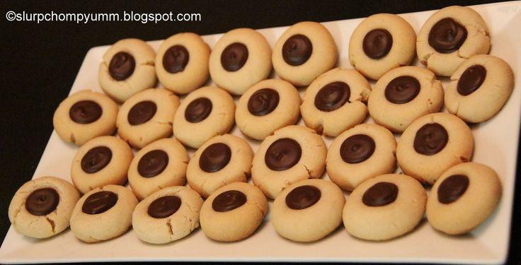 Slurp, Chomp, Yumm!: Brown Eyed Susan Cookies/ Chocolate Thumbprints (Eggless)