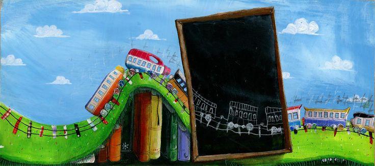 """Paulo Galindro nos habla de sus ilustraciones para """"A Locomotiva"""", editado por Qual Albatroz.  http://www.unperiodistaenelbolsillo.com/paulo-galindro-y-a-locomotiva-seria-mucho-mas-facil-si-tuviera-un-estilo-personal-constante-que-se-repite-en-todos-los-libros-pero-no-puedo-trabajar-asi-prefiero-abordar-cada-libro-y-su-hist/"""