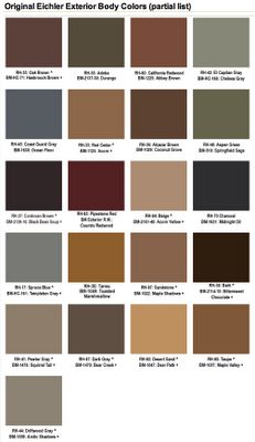 Mad for Mid-Century: Eichler Mid-Century Exterior Paint Colors (with Benjamin Moore matches)