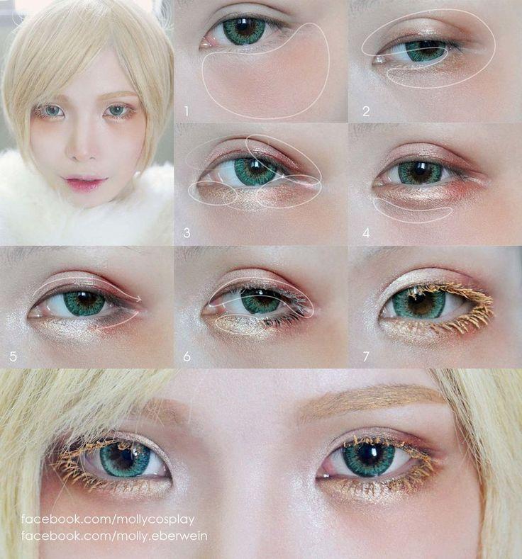 Cosplay Eyes Makeup / Dolly Eyes Makeup tutorial by mollyeberwein
