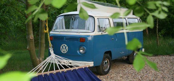 Glamping VW camper van, Coppice Woodland, Guilden Gate