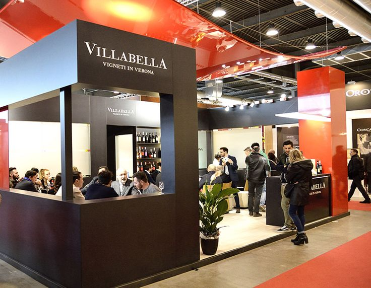 Some stands fabricated by Tosetto at the 50th Vinitaly, the International Wine and Spirits Exhibition in Verona