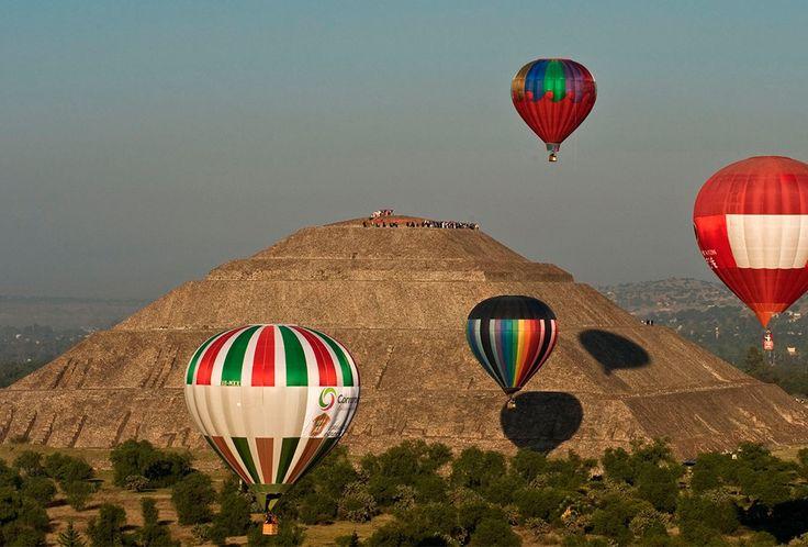 ¡No puedes perderte el Festival de Globos aerostáticos y música en Teotihuacán!