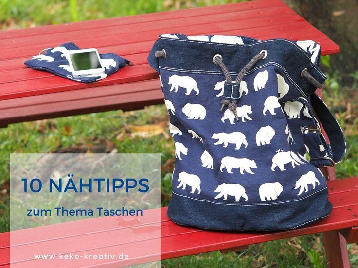 10 Nähtipps zum Thema Taschen