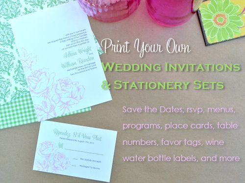 Printing Your Own Wedding Invitations: 795 Best DIY Wedding Invitations Images On Pinterest