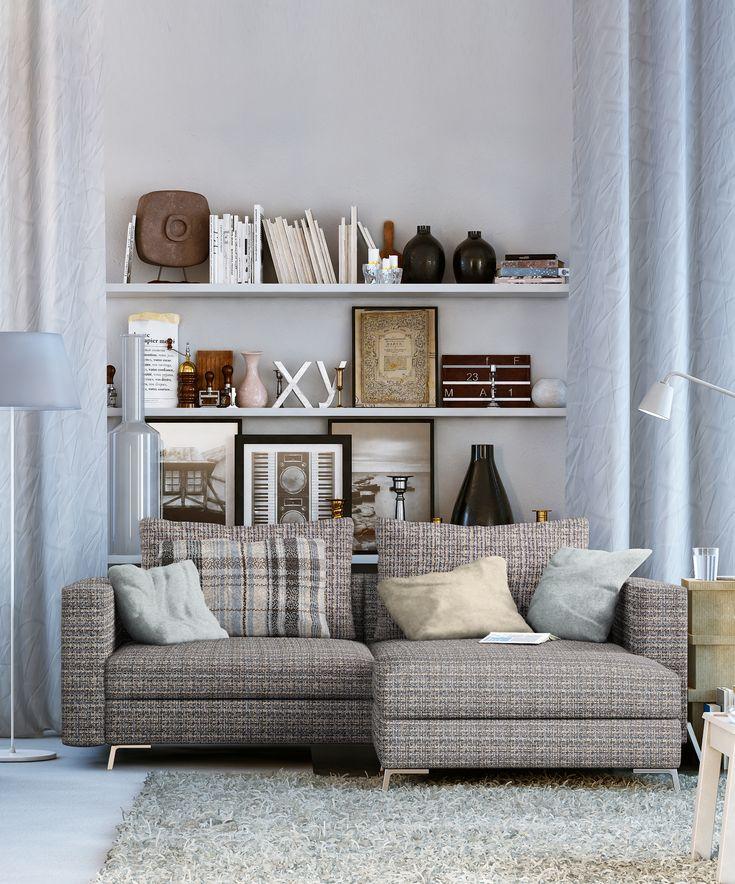 Kolekcja tkanin meblowych PIXEL. Idealnie odnajduje się we wnętrzu w stylu skandynawskim!