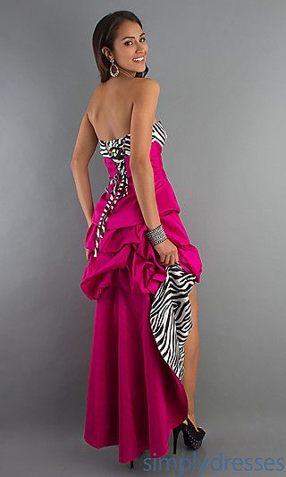 Prom dress zebra print elephant