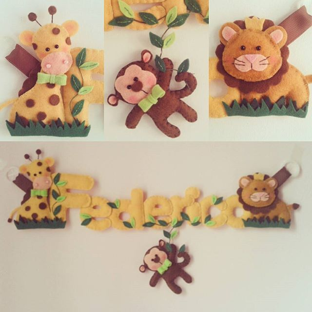 #repost #safaristyle #bannerfeltro #nomefeltro #babyroomdecor #idearegalo #giraffa #scimmietta #leone #felt #feltro #pannolenci #feltrolove #babyboy #favoledifilo #handmade #pezziunici #makethedifference #beoriginal #cucitocreativo #percorsicreativi #creativemamy #handmadewithlove #artigianato #artigianatoitaliano #madeinitaly #create #art #followme