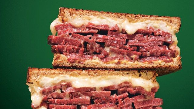 Grilled Corned Beef and Fontina Sandwiches Recipe   Bon Appetit