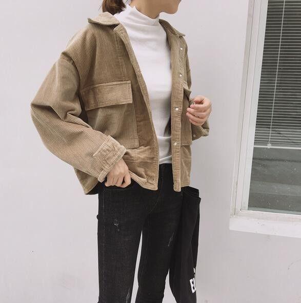 Button Corduroy Jacket