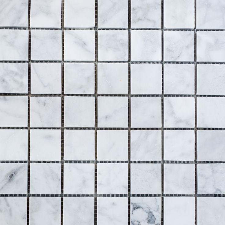 Designer Marble   Carrara Square Mosaic 30mm
