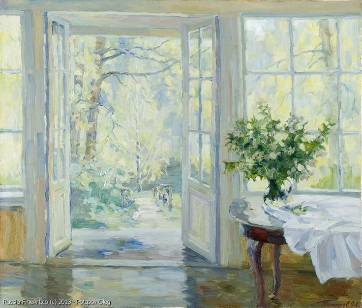 """Spring Green"" - oil, canvas http://www.russianfineart.co/catalog/prod.php?productid=20260 Artist: Potapov Oleg"