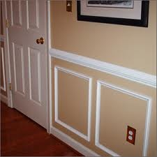 Wall molding for the living room and bed room!   Chair railing!