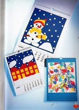 Kids art / Календарь с детскими аппликациями