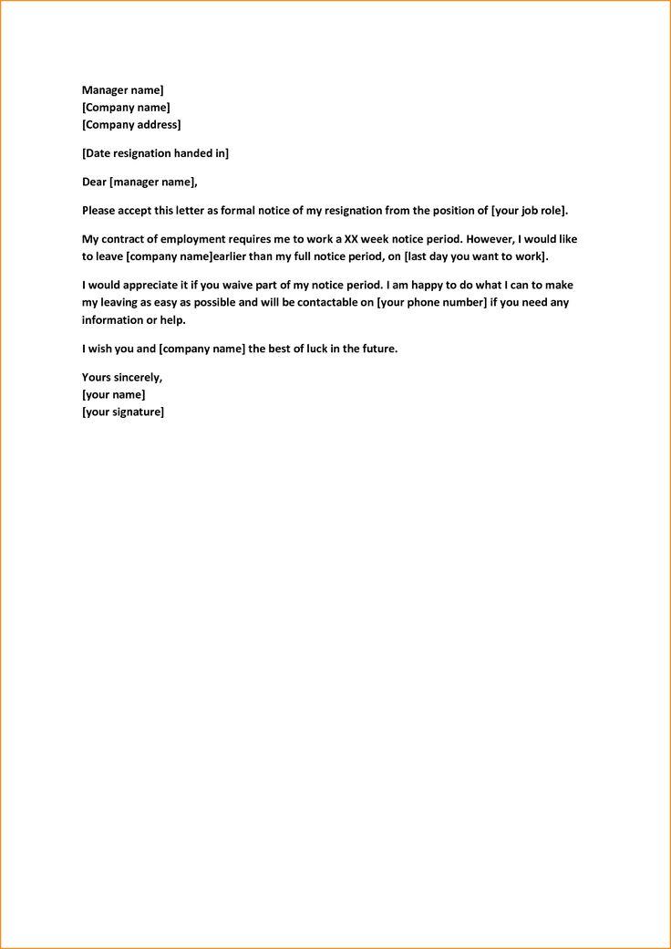 Πάνω από 25 κορυφαίες ιδέες για Two week notice letter στο Pinterest - letter of resignation 2 weeks notice