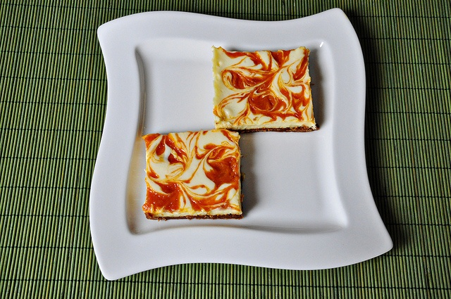 Apricot Swirled Cheesecake Bars by Courtney | Cook Like a Champion ...