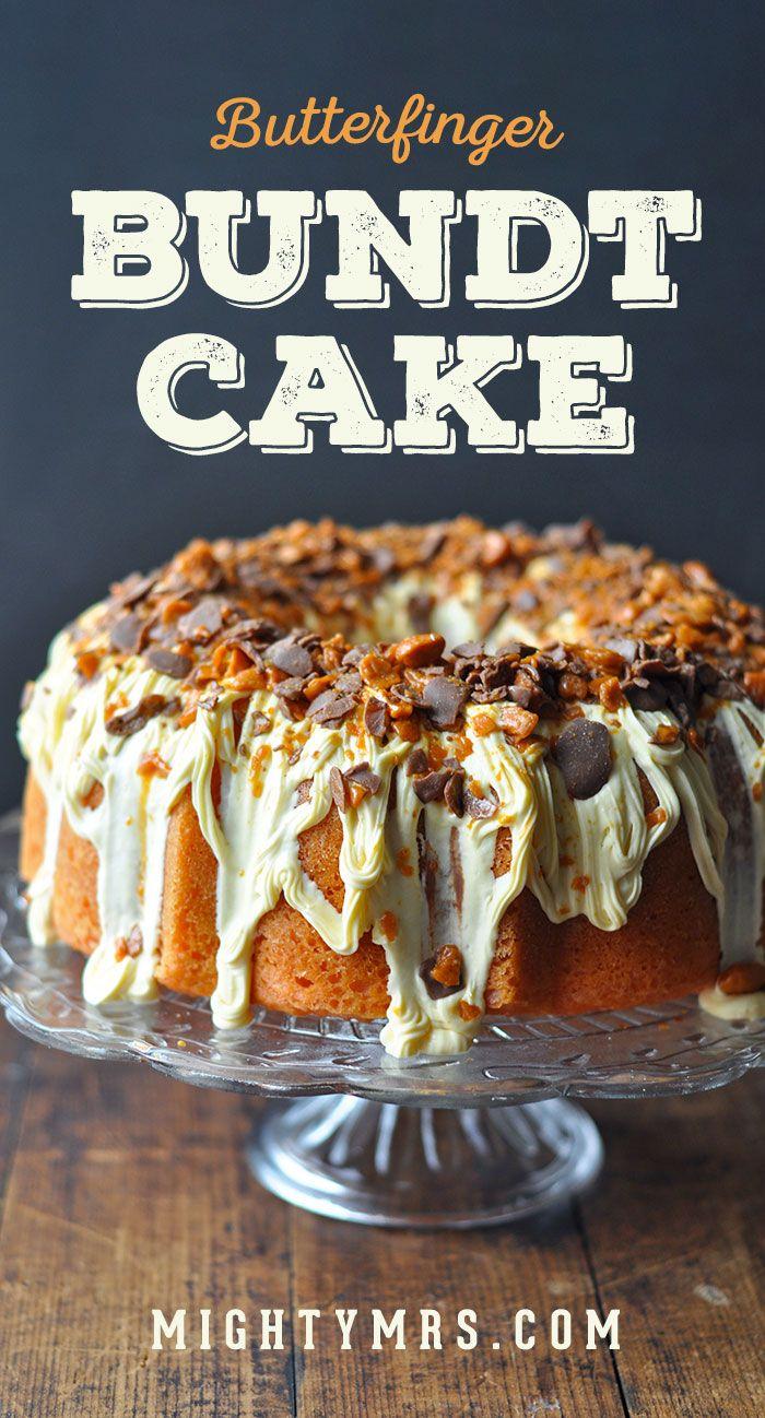 Browns Butterfinger Bundt Kuchen   – desserts