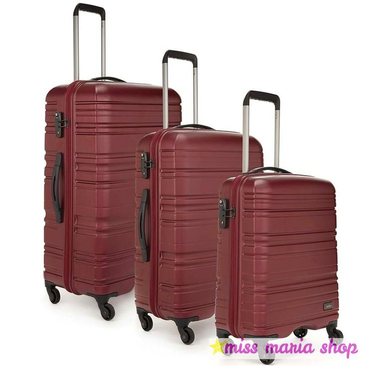 Antler Luggage Set Spinner 3 Pc Suitcases Hardside 4 Wheel Trolley Travel Pocket