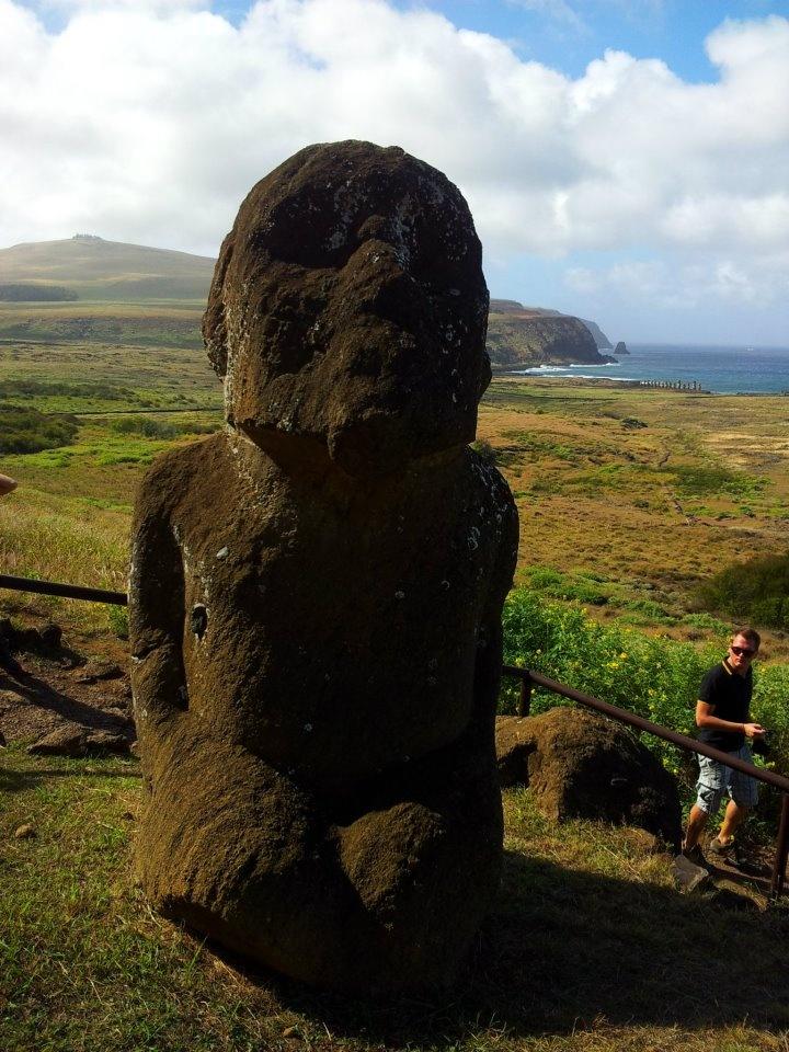 Unico moai con piernas!