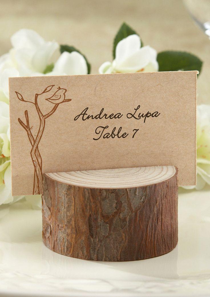 wood wedding card holders%0A ideeli   KATE ASPEN Set of    Rustic RealWood Place Card Photo Holders
