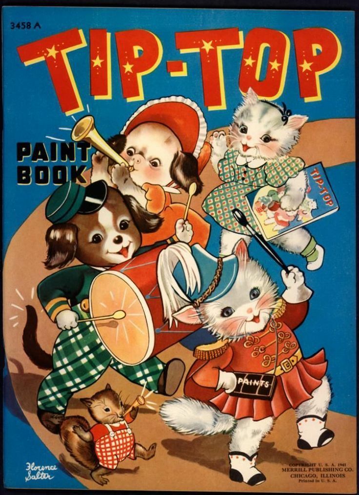 Uncolored Tip Top Paint Book 3458A Merrill 1941 2714