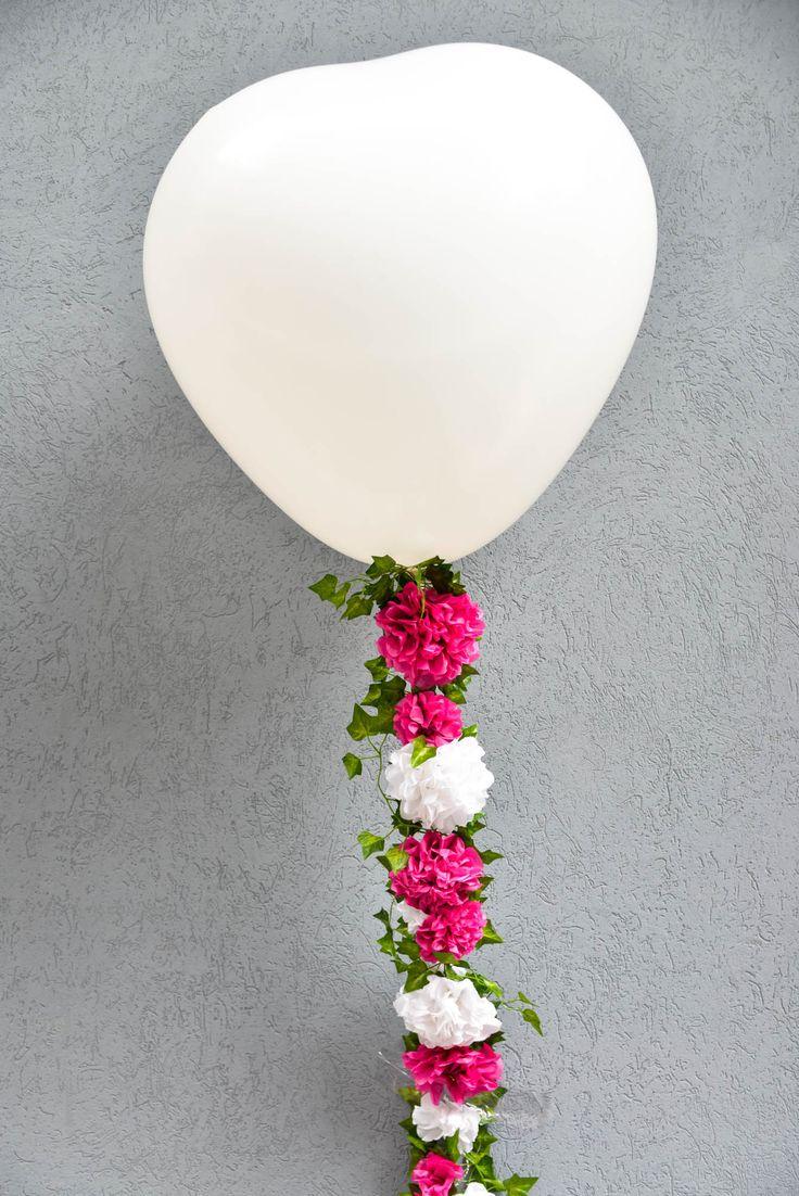 DIY, κατασκεύη, χειροποίητη, μπαλόνι, σχήμα καρδιάς, γιρλάντα, λουλούδια, διακόσμηση, διακόσμηση εκδήλωσης, γάμος. βάφτιση, πάρτι, συνθετικό φύλλωμα, διακόσμηση με μπαλόνια-Είδη Πάρτι και Διακόσμησης - Happy Teapot