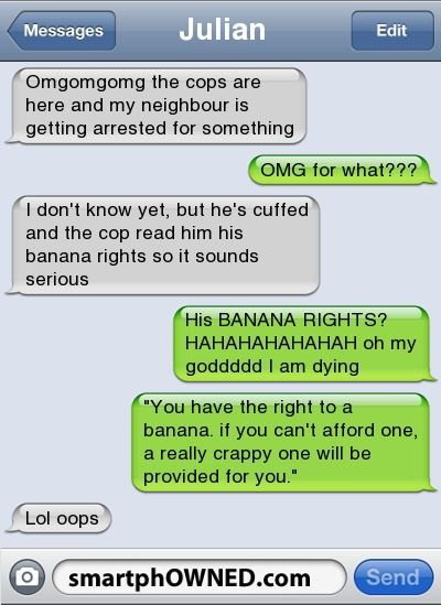 BANANA RIGHTS!? smartphOwned, this is why i love you(: