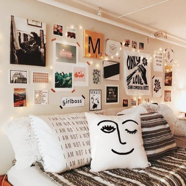 "How to prevent the ""dorm room aesthetic"" in a bedroom gallery wall? - femalelivingspace 