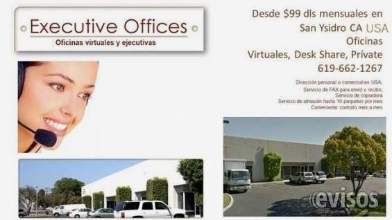 Renta de Oficinas virtuales en San Ysidro USA  Se renta oficinas virtuales en San Ysidro,California  a 5 minutos de la garita Desde $ 99 dólares ...  http://tijuana-city.evisos.com.mx/renta-de-oficinas-virtuales-en-san-ysidro-usa-id-631612