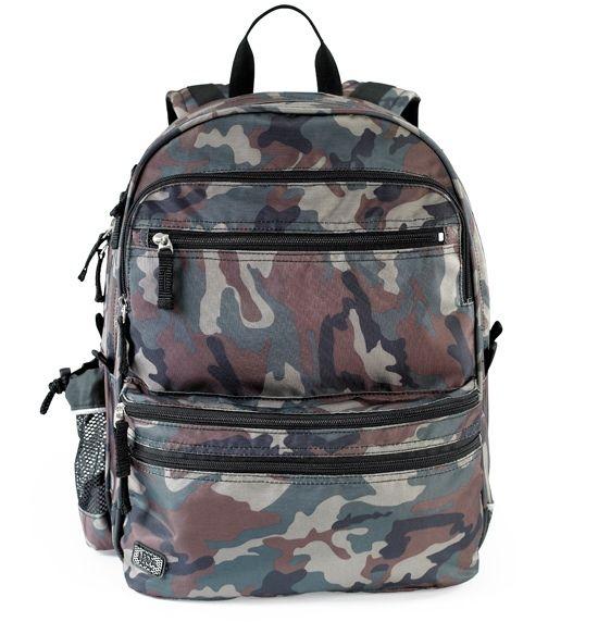 Seje Jeva Square skoletaske, 2-4 klasse, Camou Jeva  til Skoletasker i dejlige materialer