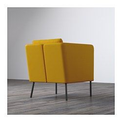IKEA - EKERÖ, Chair, Skiftebo yellow, , The reversible back cushion gives soft support for your back and two different sides to wear.The back cushion can be moved around to fit your sitting style.10-year limited warrranty. Read about the terms in the limited warranty brochure.