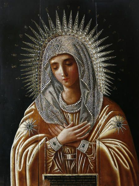 Beautiful icon of Our Lady.