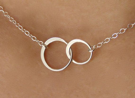 Linked Small Circles Pendant Necklace in Sterling by Popsicledrum, $23.00