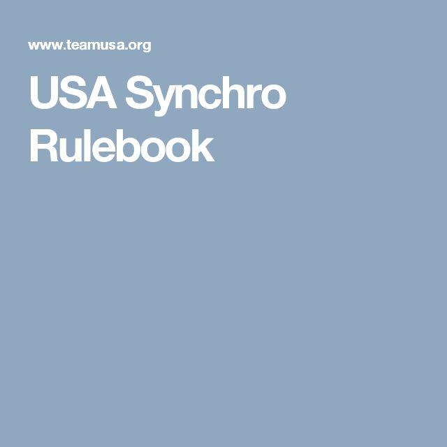 USA Synchro Rulebook