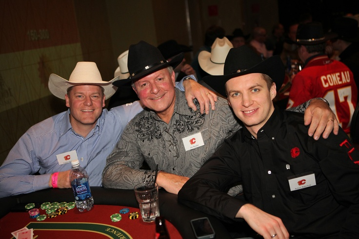 Anton Babchuk and a few of the guys at his table at the 2013 Texas Hold 'Em Tournament!