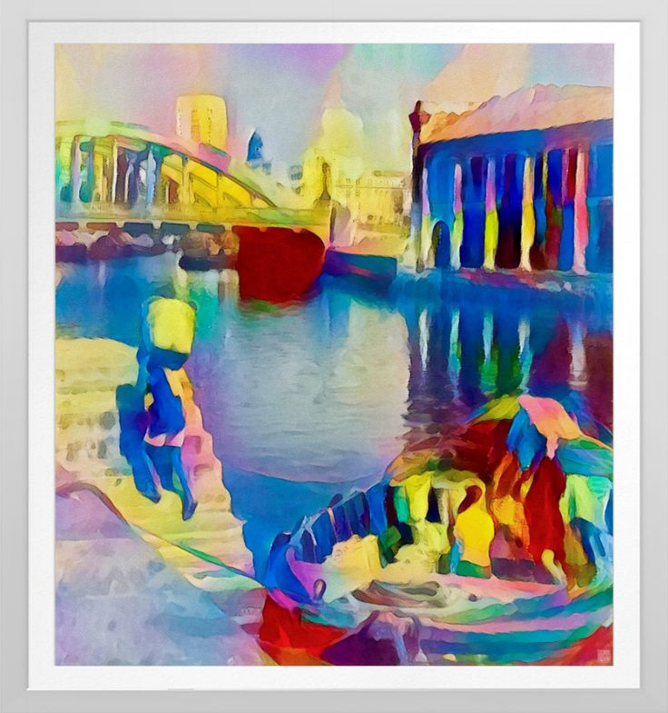 'Singapore River' - Watercolour Art Print.  Original watercolour art by Roger Smith. Reproduced on Archival Heavyweight Paper https://www.zazzle.com/singapore_river_watercolour_art_print-228296108441141144 #Singapore #art #prints #RogerSmith #Asia