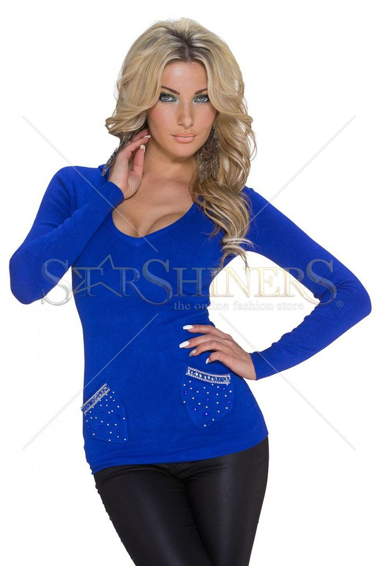 Provocative Trend Blue Sweater