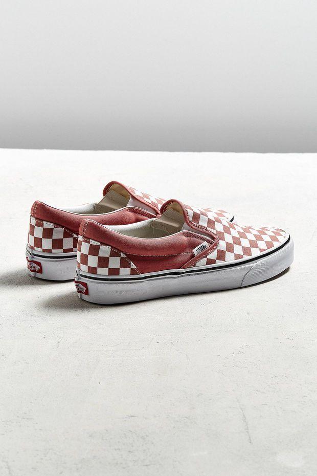 24f5b26125df Vans Slip-On Checkerboard Faded Rose Sneaker